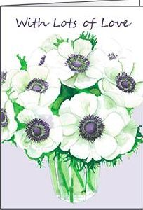 Ref 21b WHITE ANEMONES (Lots of Love)