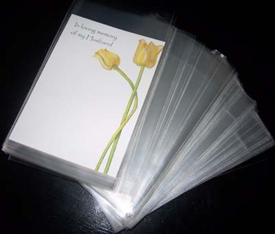 Large Cellophane Card Sleeves