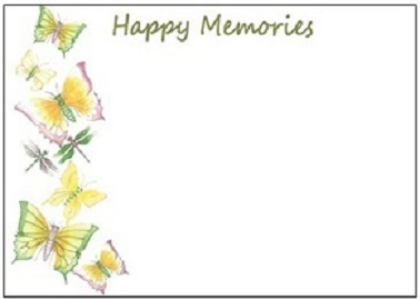 LF9a YELLOW BUTTERFLIES (Happy Memories)