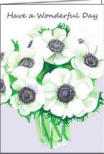 Ref 21a WHITE ANEMONES (Wonderful Day)